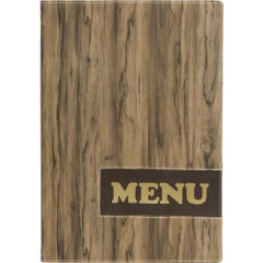 Menukaart Securit Design Wood A4