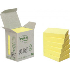 Memoblok Post-It Recycled 38x51mm 100vel geel (6)