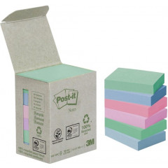 Memoblok Post-It Recycled 38x51mm 100vel assorti (6)