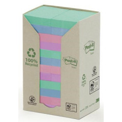 Memoblok Post-It Recycled 38x51mm 100vel assorti (24)