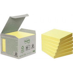Memoblok Post-It Recycled 76x76mm 100vel geel (6)