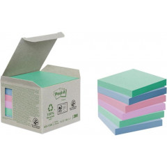 Memoblok Post-It Recycled 76x76mm 100vel assorti (6)