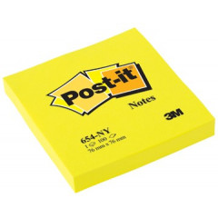 Memoblok Post-it 76x76mm neongeel