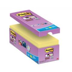Memoblok Post-it 76x76mm geel voordeelpak 14+2 gratis