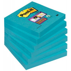 Memoblok Post-it Super Sticky 76x76mm electric blauw (6)
