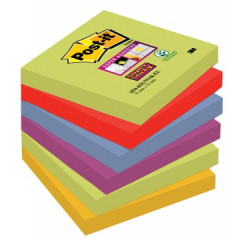 Memoblok Post-it Super Sticky Marrakesh 76x76mm assorti (6)