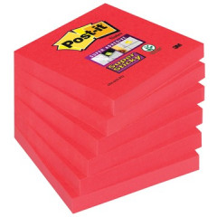 Memoblok Post-it Super Sticky 76x76mm poppy roze (6)