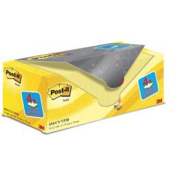 Memoblok Post-it 76x76mm geel voordeelpak 16+4 gratis