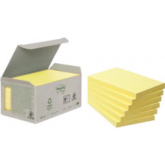 Memoblok Post-It Recycled 76x127mm 100vel geel (6)