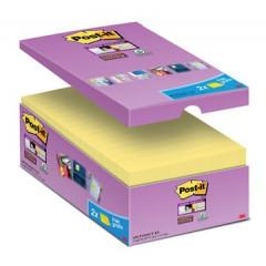 Memoblok Post-it 76x127mm geel voordeelpak 14+2 gratis