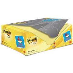 Memoblok Post-it 76x127mm geel voordeelpak 16+4 gratis