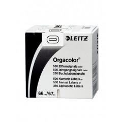 Signalisatiecijfer Leitz orgacolor n° 0 zelfklevend wit (500)