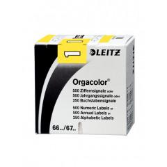 Signalisatiecijfer Leitz orgacolor n° 1 zelfklevend geel (500)