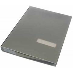 Handtekenmap Classex plastic 20-vaks zilver
