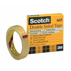 Plakband Scotch dubbelzijdig 19mmx33m