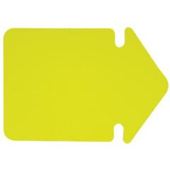 Fluo pijl Folia karton 24cm geel
