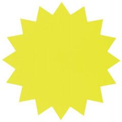 Fluo ster Folia karton 18cm geel (20)