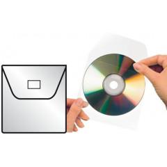 Etui 3L CD/DVD zelfklevend met klep (100)