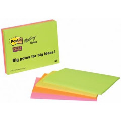 Memoblok Post-it Super Sticky 149x200mm 45vel assorti (4)