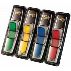 Index Post-it Pijlen 12x43mm rood, blauw, geel, groen