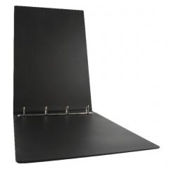 Ringmap Esselte PP A3 dwars 4 O-ringen 25mm rug 3,6cm zwart