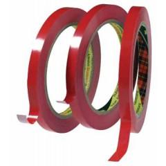 Plakband Scotch voor zakkensluitapparaat 12mmx66m rood
