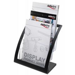 Folderhouder Deflecto A4 zwart/transparant