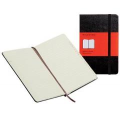 Adresboek Moleskine 13x21cm gelijnd harde cover zwart