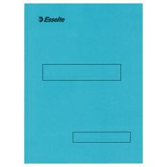 Binnenmap Esselte karton A4 160g met klep aan onderzijde blauw (100)
