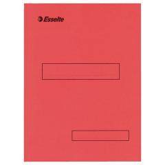 Binnenmap Esselte karton A4 160g met klep aan onderzijde rood (100)