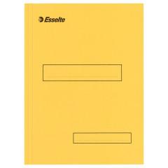 Binnenmap Esselte karton A4 160g met klep aan onderzijde geel (100)