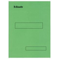 Binnenmap Esselte karton A4 160g met klep aan onderzijde groen (100)
