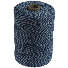 Katoentouw 200gr - 200m blauw/wit