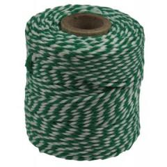 Katoentouw 50gr - 45m groen/wit