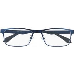 Leesbril Silac Blue Metal mat nickelvrij metaal +2,00