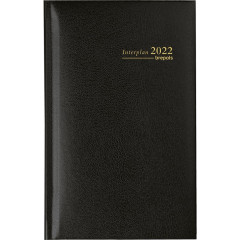 Zakagenda Brepols Interplan Lima 90x160mm NL zwart 2021 1 week/2 pagina's