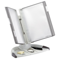 Zichtpanelensysteem Tarifold design basisset bureau 10 tassen grijs