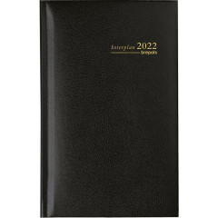 Zakagenda Brepols Interplan Lima 90x160mm zwart 2021 1 week/2 pagina's