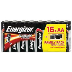 Batterij Energizer Alkaline Power AA family pack (16)