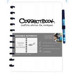 Schrift Correctbook A4 gelijnd herbruikbaar wit