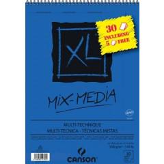 Album Canson Mix Media XL A3 300g 25+5 vel gratis