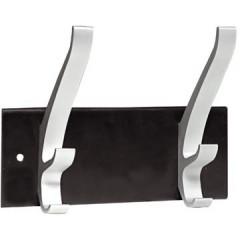 Wandkapstok Unilux Cypress 2 haken metaal/aluminium