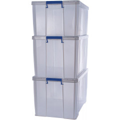Opbergdoos Bankers Box ProStore 2x85l en 1x70l transparant