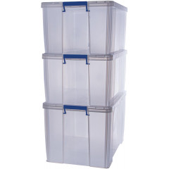 Opbergdoos Bankers Box ProStore 1x85l en 2x70l transparant