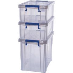 Opbergdoos Bankers Box ProStore 2x10l en 1x18,5l transparant