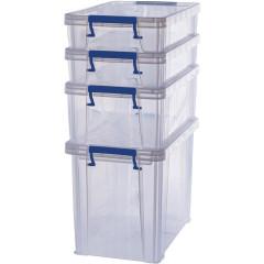 Opbergdoos Bankers Box ProStore 2x5,5l, 1x10l en 1x18,5l transparant
