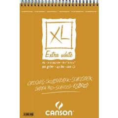Schetsblok Canson XL A4 90gr 120vel extra wit