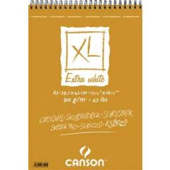 Schetsblok Canson XL A3 90gr 120vel extra wit
