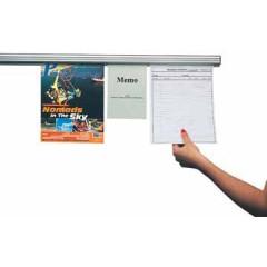 Wandpresentatiesysteem Jalema grip-a-strip aluminium 120cm