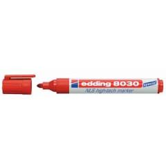 Marker Edding 8030 NLS hightech ronde punt 1,5-3mm rood